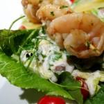 Cézár saláta grillezett garnélával